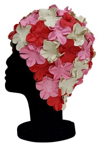 BLUE REEF Floral Isla Ladies Classic Retro Flower Petal 3 Colour Swimming Hat