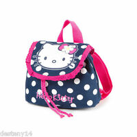 Hello Kitty Navy And Pink Polka Dot Mini Backpack Bookbag Sanrio