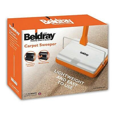 BELDRAY CARPET SWEEPER NOBODY DOES IT BETTER  With 2 AUXILLARY BRUSHES LA024855