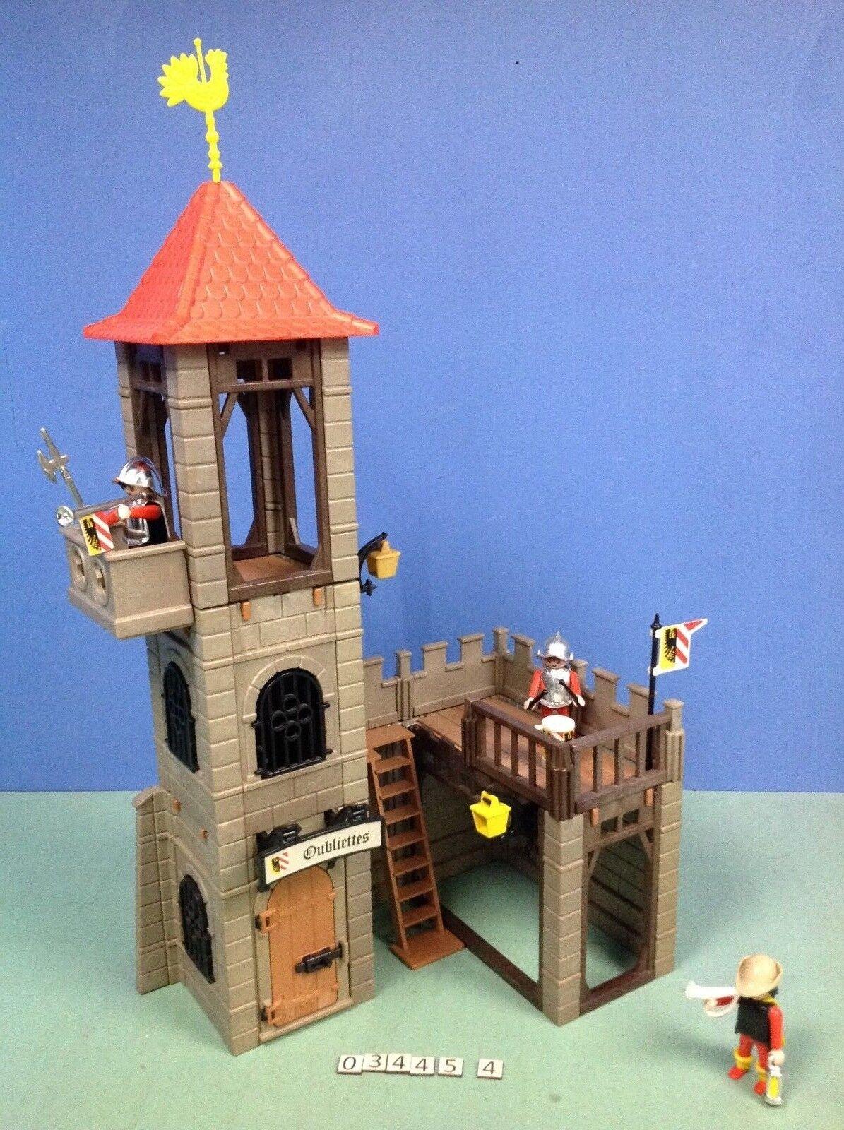 (O3445.4) playmobil tour de garde oubliettes prison ref 3445 année 80 - 85
