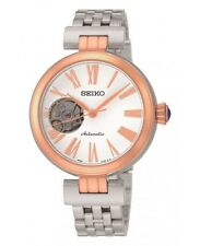Ladies New Seiko Presage Automatic Rose Gold Plate & Steel Watch SSA862K1 Rp£299