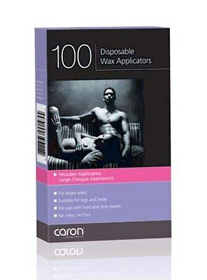 CARON Disposable Wax Applicators Tongue Depressors Large (100)