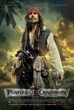 Pirates Of The Caribbean movie poster On Stranger Tides, Johnny Depp poster (b)
