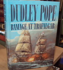 RAMAGE AT TRAFALGAR by DUDLEY POPE - 1st EDITION HB DJ 1986