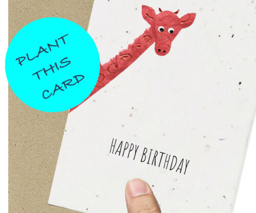 Gardening Sustainable Recycled Eco Friendly Birthday Cards Plantable Seeded