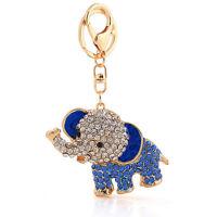 Handbag Buckle Charms Accessories Blue Lucky Elephant Keyrings Key Chains HK97