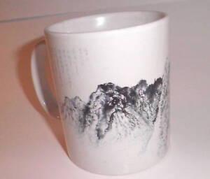 White-Mug-with-Mountains-Japanese-Inscriptions-Kanje-Mint-Condition