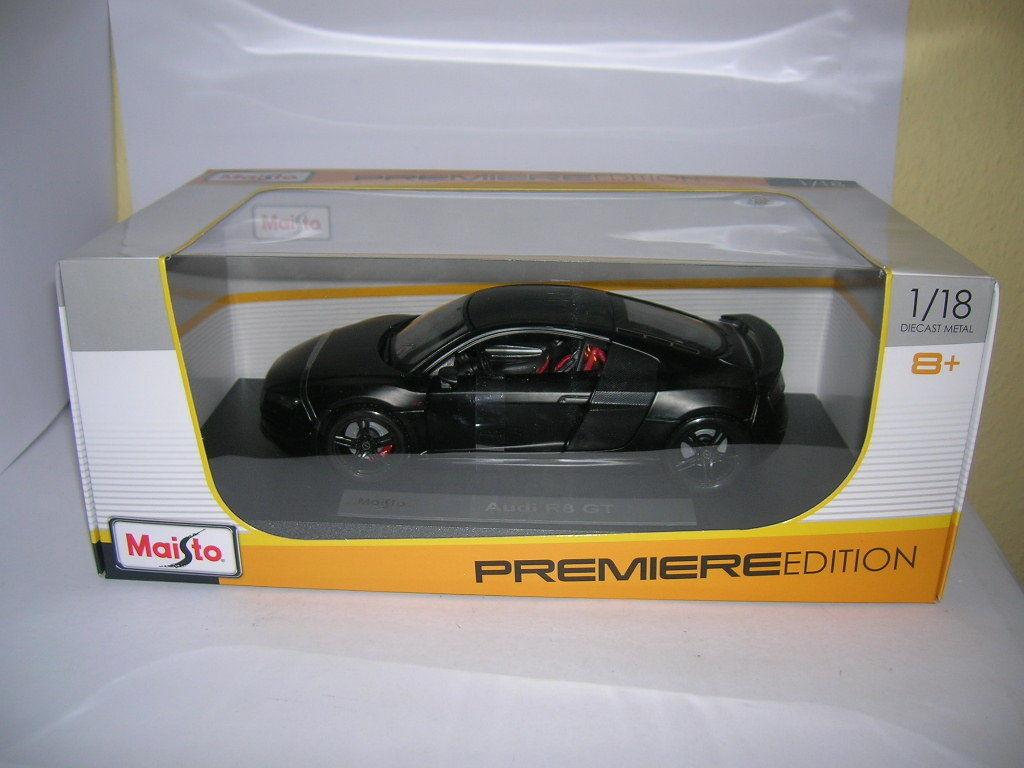 Maisto Audi R8 GT NERO OPACO 1 NERO premiere edizione, 1 OPACO 18 art. 36190 252688