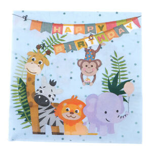 20x-Safari-Theme-Paper-Napkins-Animals-Napkins-Kids-Birthday-Party-Decor