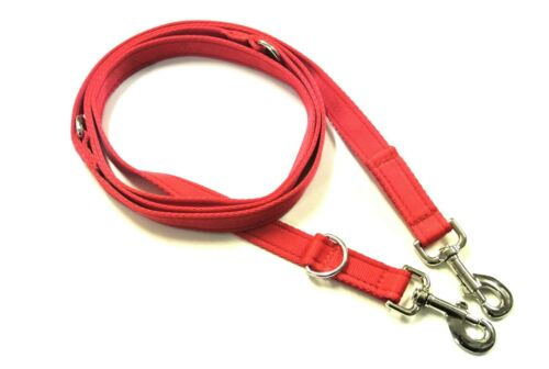 8ft Police Style Dog Training Lead,Leash 25mm Cushion Webbing In Black Or Red