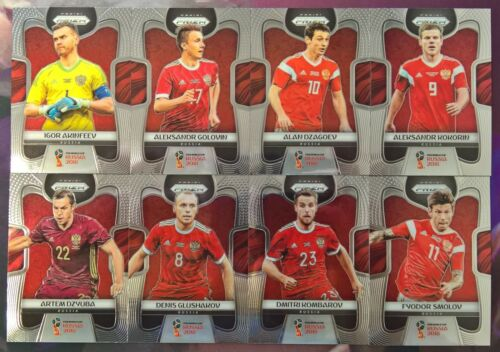 2018 Prizm Fifa World Cup Soccer COMPLETE Team Set Russia 8 Card Set 163-170