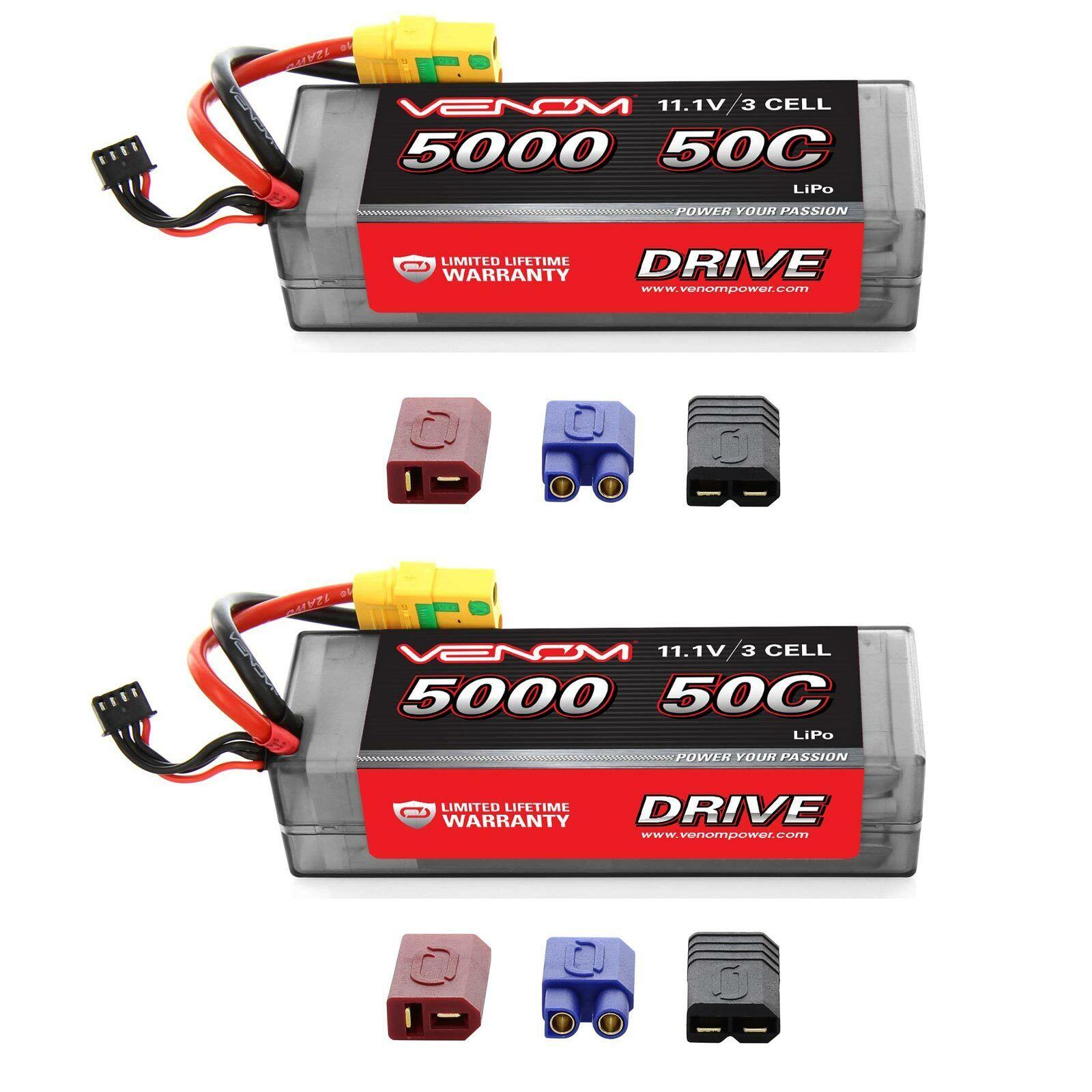 Venom 50C 3S 5000mAh 11.1 Batería LiPo Hardcase con Enchufe XT90-S x2 paquetes