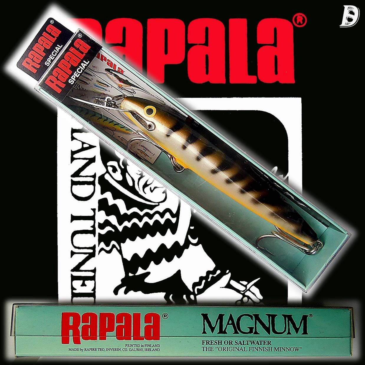 Vintage Rapala Magnum Countdown 14cm Special – OS Irland Neu in Box sehr selten