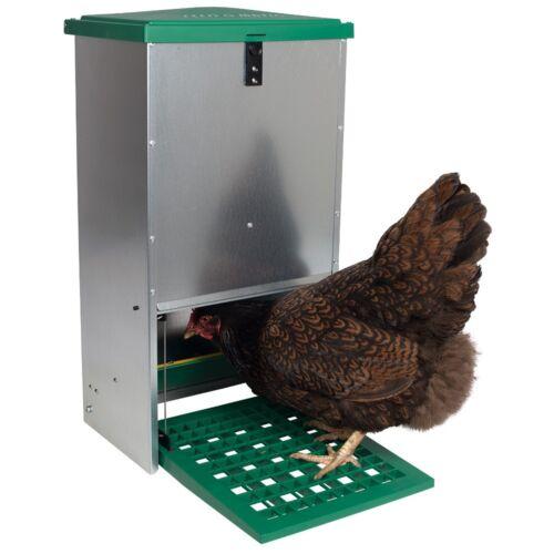 Futterautomat Feedomatic 20kg mit Trittplatte Geflügel-Futterautomat,Hühnertrog