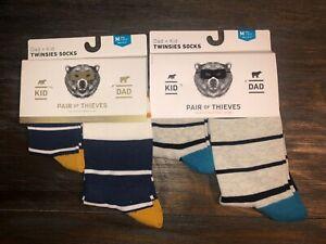 2-Twinsies-Sock-Set-NEW-Pair-of-Thieves-Dad-amp-Kid-Men-Sz-8-12-amp-Kid-M-4yr-8yr