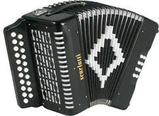 Scarlatti 2-Row D/G MELODEON, Black. English/Morris squeezebox from Hobgoblin