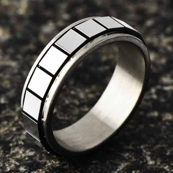 fashion jewelry stainless steel womens mens boy rings free shipping size 6 7 8 9