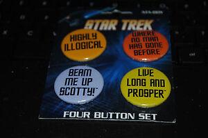 NEW UNUSED Star Trek The Original Series Quotes Set of 4 Shot Glasses