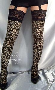 MADAME-fantaisie-leopard-impression-dentelle-noire-haut-bas-XS-S-M-L-XL-XXL-XXXL-hauteur