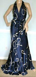 Ralph-Lauren-Collection-Purple-Label-Bow-Halter-Long-Maxi-Dress-Gown-IT-42-US-6