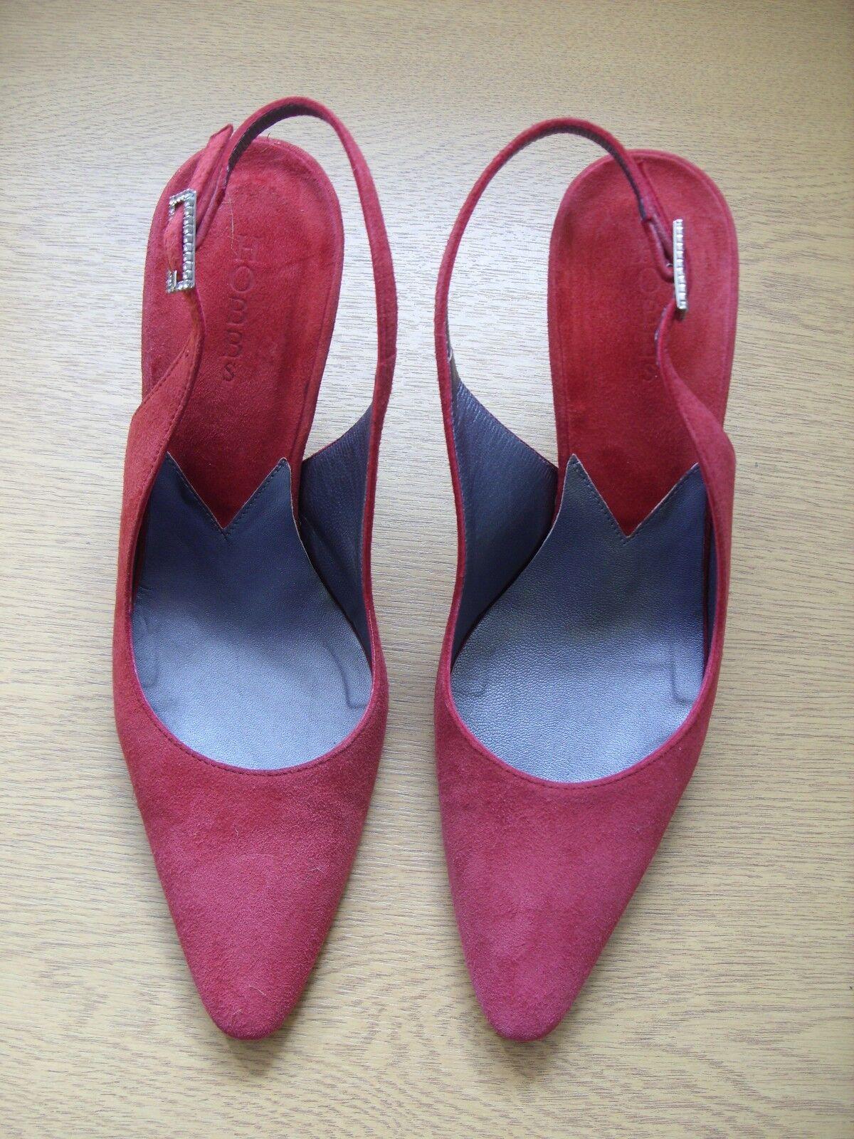 Chaussures Femmes Hobbs Crimson Cuir Daim Sling-Dos, UK 3.5 EU 36, Italien 3290