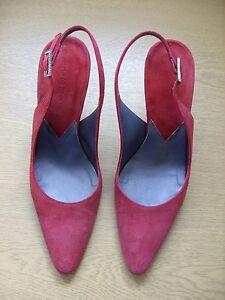 Hobbs Leather Italian Uk 36 Suede Shoes 3290 Ladies 5 backs Sling 3 Eu Crimson FtqHxn5w