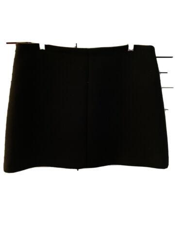 Valentino RED Black Mini Skirt Slize IT44 US10