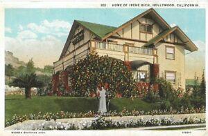 IRENE-RICH-HOME-OF-IRENE-RICH-WARNER-BROS-STAR-HOLLYWOOD-CALIFORNIA-POSTCARD