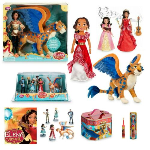 Disney store Elena Of Avalor mini Figures plush singing talking doll Jewelry box