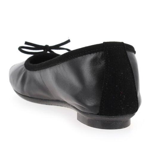 Reqins Harmony Ballerines peau Noir Cuir 6Yx7axw