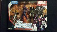 Marvel Universe The West Coast Avengers Mokingbird, Hawkeye, War Machine