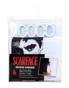 JPI Black White Red Scarface Tony Montana Shower Curtain With 12
