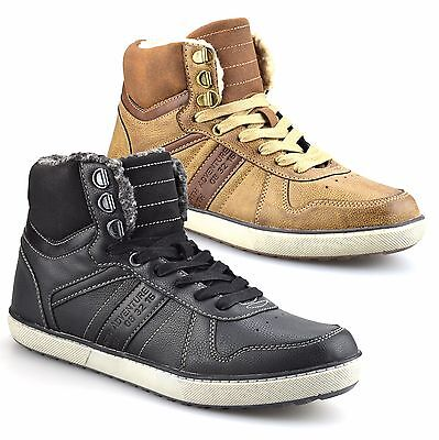 Mens Warm Fur Lined Casual Walking Hiking Winter Ankle Boots Trainers Shoes Size