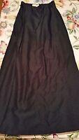 Kay Unger $350 Full Length Black Skirt Size 4