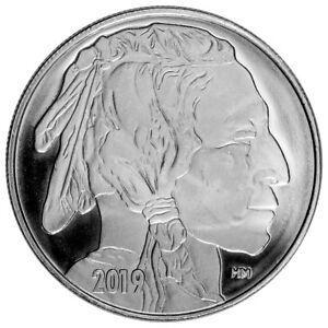 2019-Highland-Mint-Buffalo-Nickel-Design-1-oz-Silver-Round-GEM-BU-SKU56427