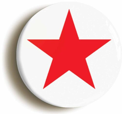 RED STAR BADGE BUTTON PIN Size is 1inch//25mm diameter