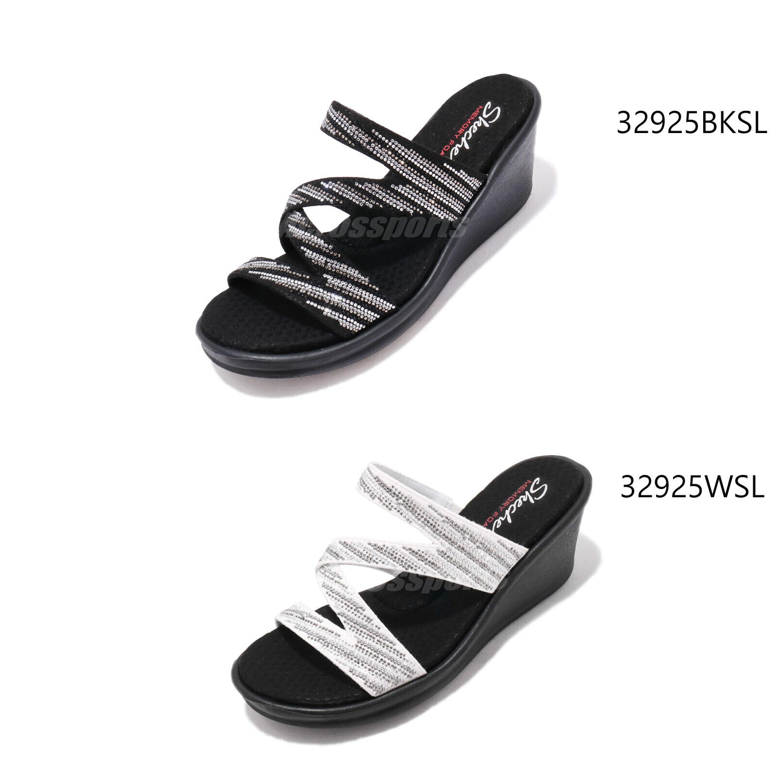 Skechers Rumblers-Mega Flash Memory Foam mujer Wedge Cali Sandals Pick 1