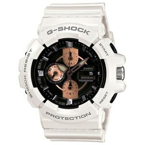 NEW-CASIO-MENS-G-SHOCK-WHITE-ROSE-GOLD-WATCH-OVERSIZE-GAC-100RG-7AER-RRP-160