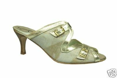 Sandale  Leder m. Stoff      TangoS./made in Spain   creme/gold   Gr. 36 + 37