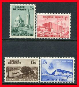 Belgium Postage Stamps Scott 318 321 Mint Complete Set B1059 Ebay