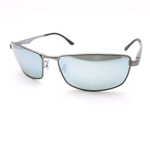 b073c276ce6 Ray Ban 3498 029 Y4 61 Matte Gunmetal Silver Polarized Sunglasses ...