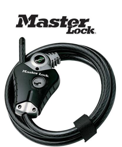 Master Lock 8428 Python Cable Bike Lock 1800mm x 10mm Bicycle Security LVL 7