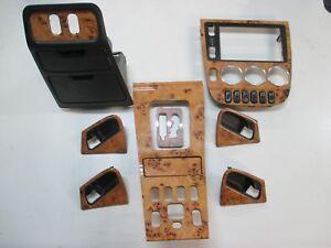 MERCEDES-CLASSE-M-ML-w163-legno-dotazione-betulla-MARRONE-LEGNO-98-2001-console-centrale