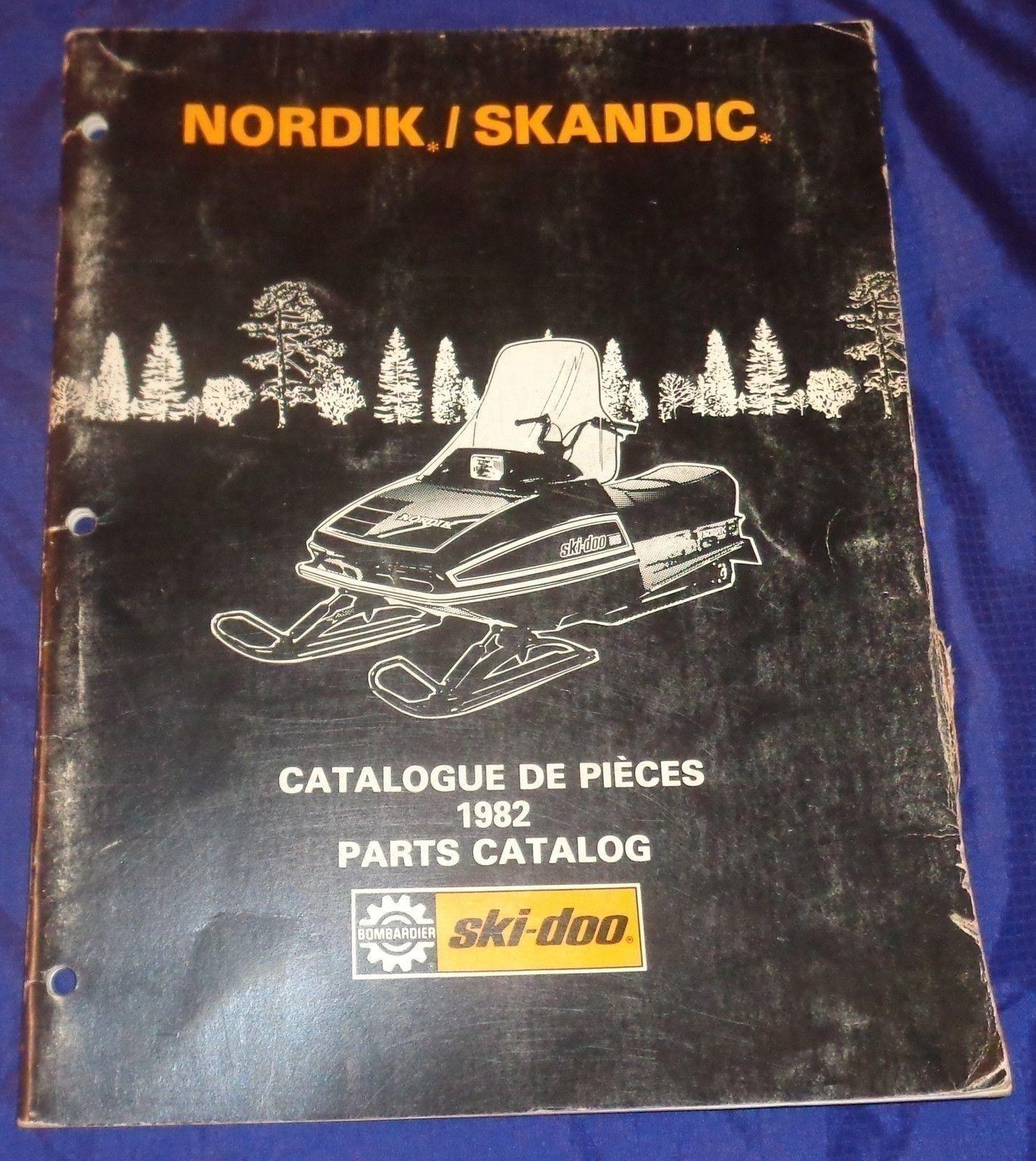 BS684 1982 Ski-Doo Nordik Skandic Parts Catalog 480 1156 00 Manual