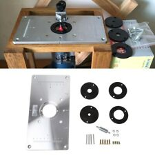 Aluminum Router Table Insert Plate With 4 Rings Screws For Woodworking Benches