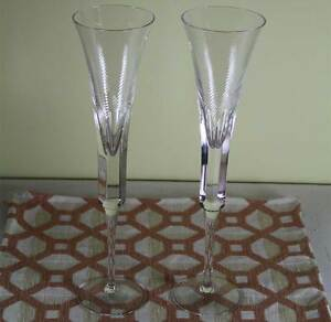 wonderful pair tall champagne flutes boxed designed for renwick