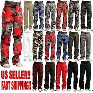Men Military Army Camoflauge Camo Cargo Pant Combat Cargo