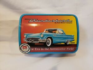 Collectible Classic Car Tin Box Ford Thunderbird Open Road Hinged Ebay