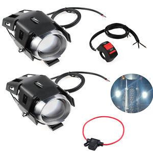 2x125W LED Scheinwerfer Motorrad Motorrad fahren Nebelscheinwerfer mit Schalter