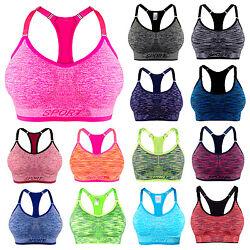 Libella Damen Sport BH Push Up ohne Bügel Fitness Yoga Soft-Bustier Stretch